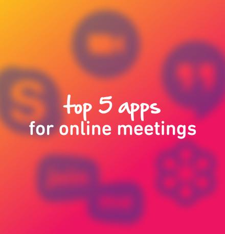 top 5 apps for online meetings